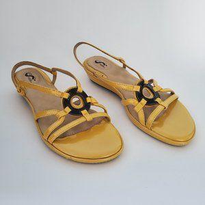 SoftWalk Slingback Strappy Wedge Sandals